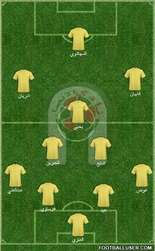 Al-Ansar (KSA) 4-4-1-1 football formation