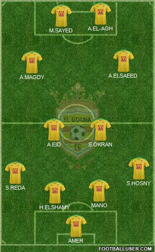 El Gouna FC 4-4-2 football formation