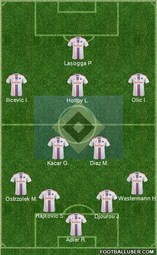 Hamburger SV 3-4-2-1 football formation