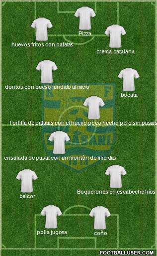 KS Elbasani 4-4-2 football formation