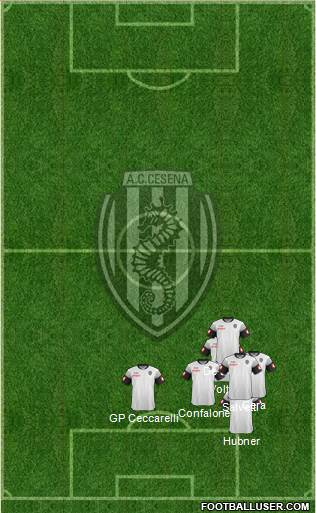Cesena 4-3-3 football formation
