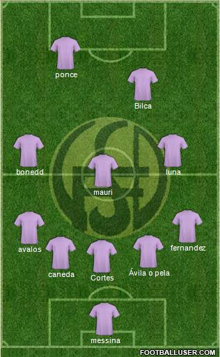 Flandria 5-3-2 football formation