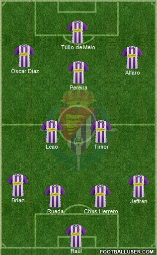 R. Valladolid C.F., S.A.D. 4-5-1 football formation