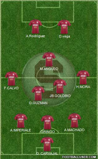 CD Saprissa 3-5-2 football formation