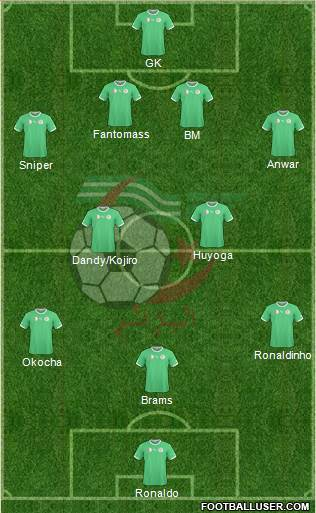 Algeria 4-2-3-1 football formation