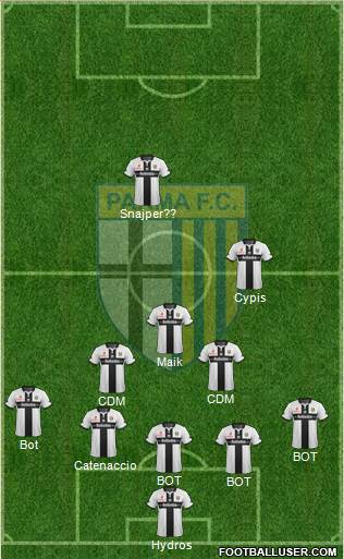 Parma 5-3-2 football formation