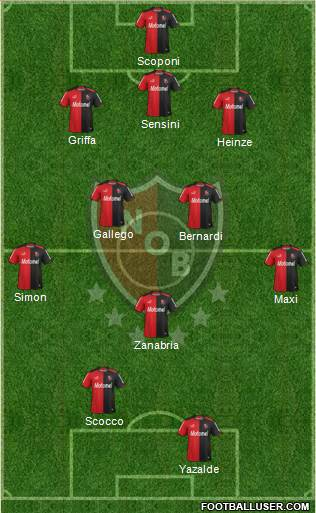 Newell's Old Boys 3-5-2 football formation