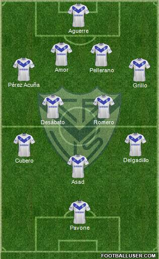 Vélez Sarsfield 4-5-1 football formation