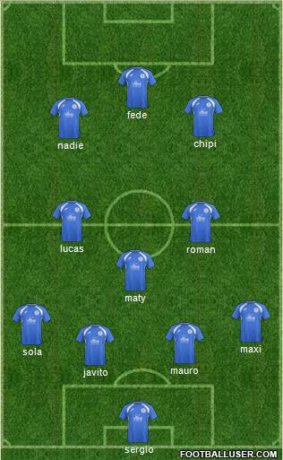 Queen Of The South 4-3-3 football formation
