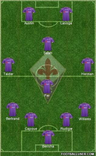 Fiorentina 4-1-4-1 football formation
