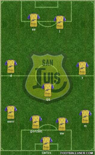 CD San Luis S.A.D.P. 3-5-2 football formation