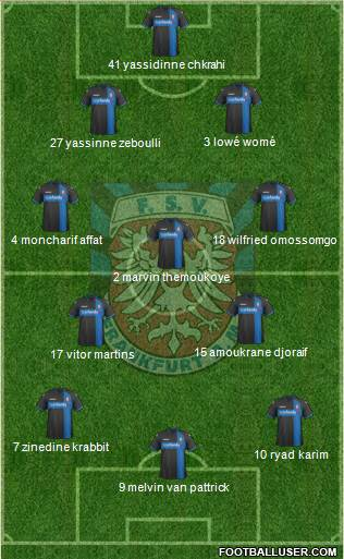 FSV Frankfurt 4-1-4-1 football formation