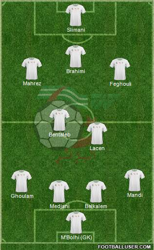 Algeria 4-2-2-2 football formation