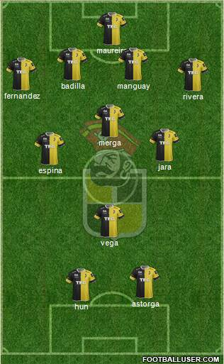 CD Coquimbo Unido S.A.D.P. 4-3-1-2 football formation