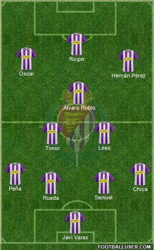 R. Valladolid C.F., S.A.D. 4-1-3-2 football formation