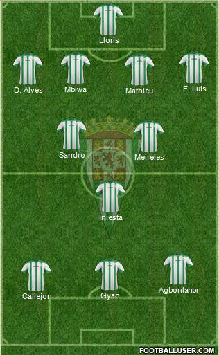 Córdoba C.F., S.A.D. 4-2-1-3 football formation