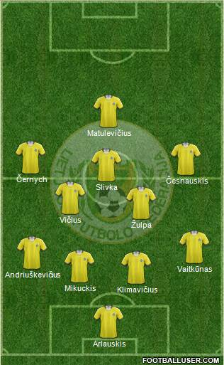 Lithuania 4-2-3-1 football formation