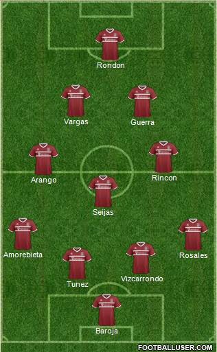 Northampton Town 4-3-2-1 football formation