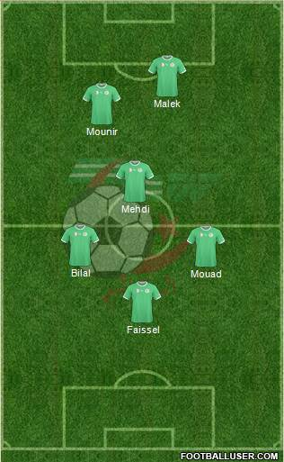 Algeria 4-3-1-2 football formation