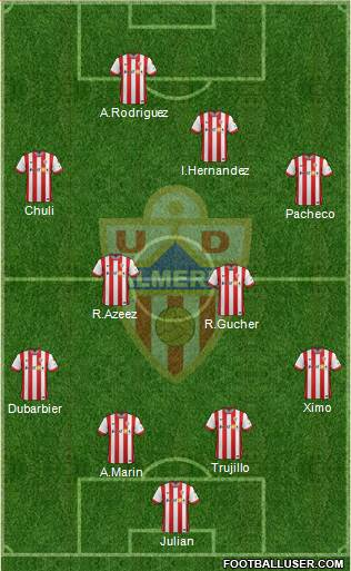 U.D. Almería S.A.D. 4-4-2 football formation