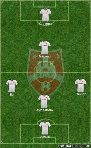 NK Zagreb 3-5-2 football formation