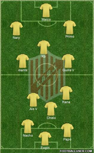 9 de Julio 5-4-1 football formation