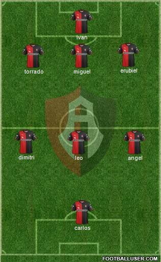 Club Deportivo Atlas 5-4-1 football formation