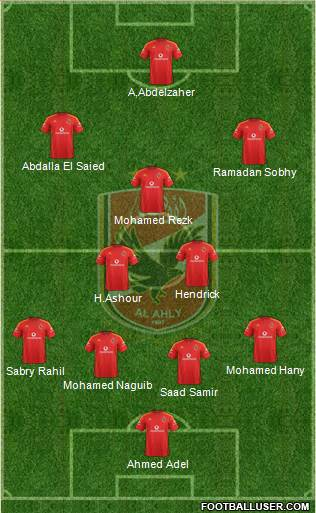 Al-Ahly Sporting Club 4-2-2-2 football formation