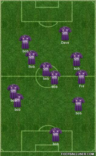 Perth Glory 4-4-2 football formation