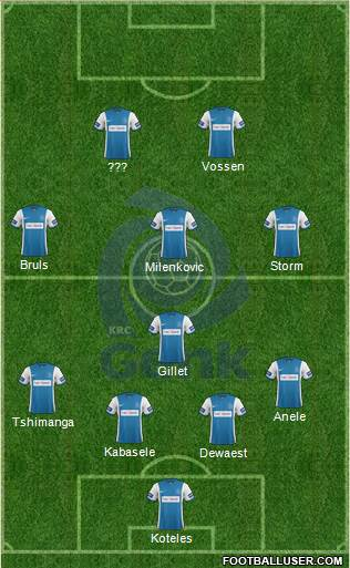 K Racing Club Genk 4-1-3-2 football formation