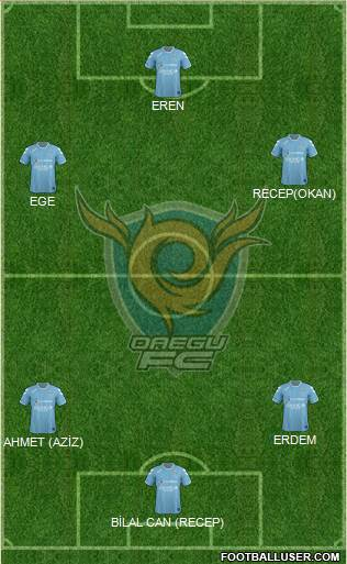 Daegu FC 4-2-1-3 football formation