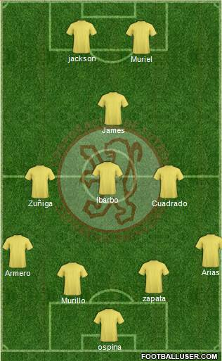 CDF Deportivo Rionegro 4-3-1-2 football formation