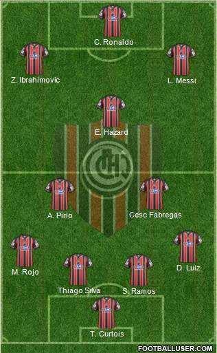 Chacarita Juniors 4-3-3 football formation