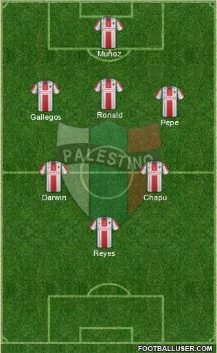 CD Palestino S.A.D.P. 5-3-2 football formation