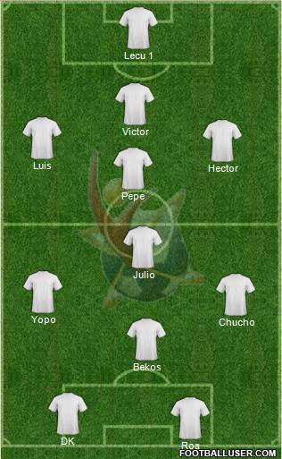 Club Universidad del Futbol 4-3-1-2 football formation