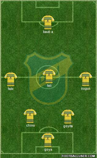 Defensa y Justicia 3-4-2-1 football formation