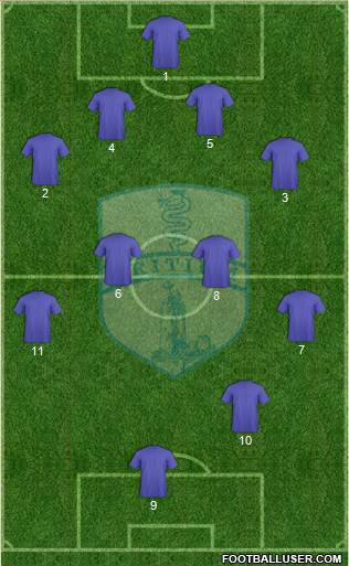 Tritium 4-4-1-1 football formation