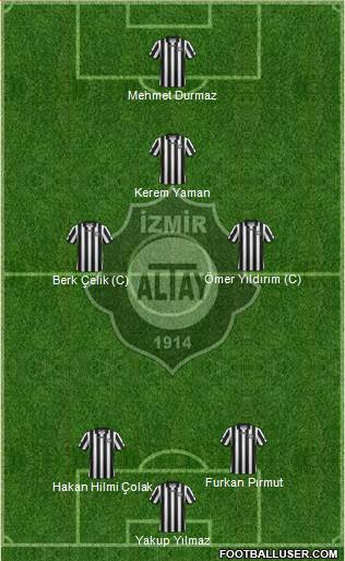 Altay 3-5-2 football formation