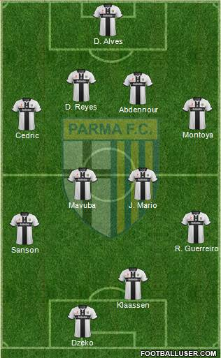 Parma 4-4-1-1 football formation