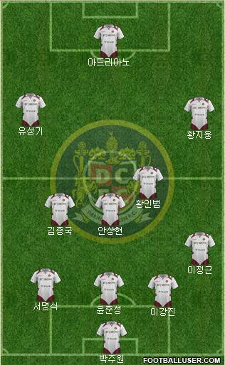 Daejeon Citizen 4-3-2-1 football formation