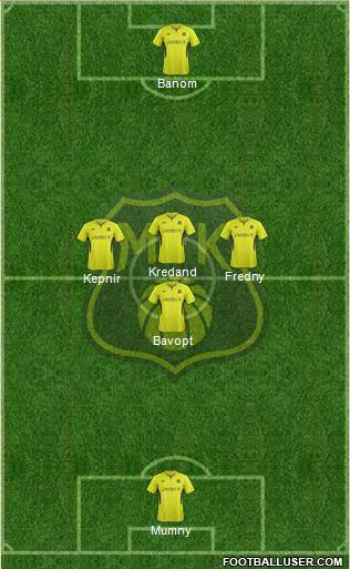 Moss FK 4-5-1 football formation