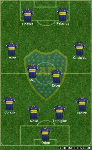 Boca Juniors 4-4-2 football formation
