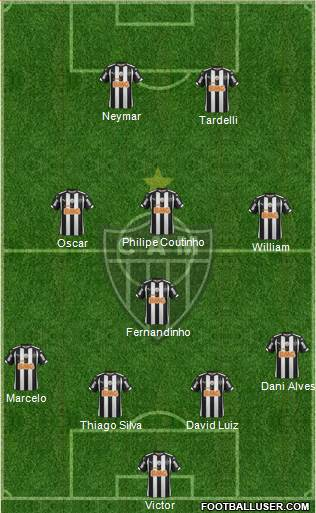 C Atlético Mineiro 4-1-3-2 football formation