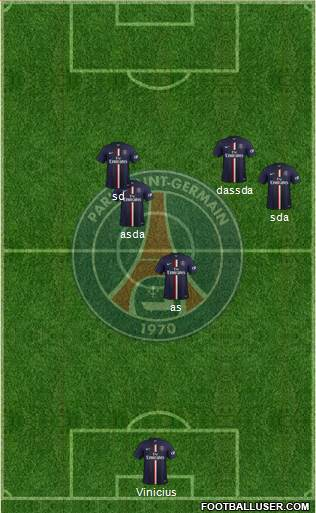 Paris Saint-Germain 3-5-2 football formation