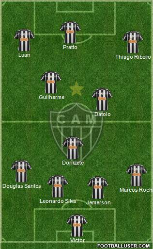 C Atlético Mineiro 4-1-2-3 football formation