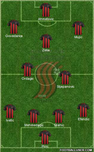 FK Sloboda Tuzla 4-2-3-1 football formation