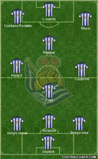 Real Sociedad S.A.D. 3-5-1-1 football formation