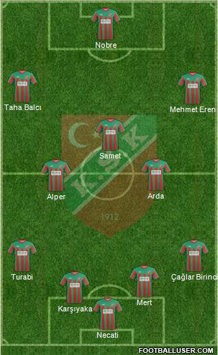 Karsiyaka 4-3-2-1 football formation