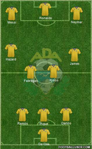 A.D. Alcorcón 4-3-1-2 football formation