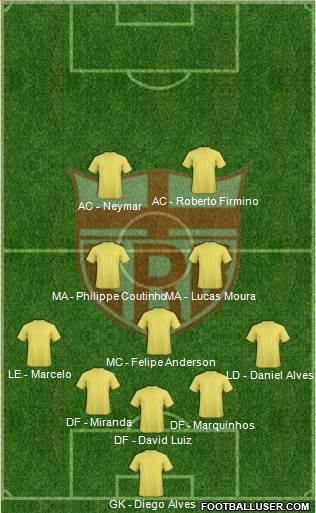 CR Brasil 5-3-2 football formation